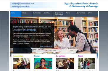 Screenshot of the Cambridge Trusts website